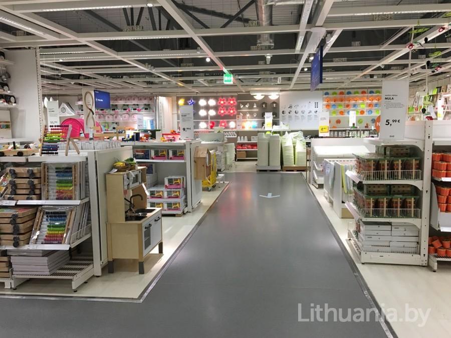 Торговые залы магазина Икея в Вильнюсе