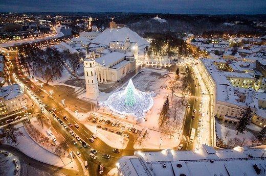 Захватывающие виды рождественского Вильнюса